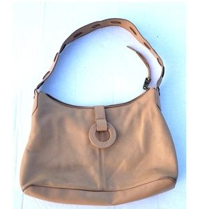 The Sak Original Tan Leather Shoulder Bag